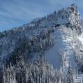 Lichtenberg Mountain (5,844 ft) to the east.- Great Snowshoeing Near Seattle