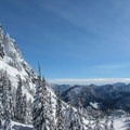 Looking east beyond Lichtenberg Mountain (5,844'), Lake Valhalla.- Must-Do Winter Adventures in the West