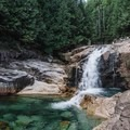 Crystal clear waters at Gold Creek Falls.- Best Day Hikes near Vancouver, B.C.