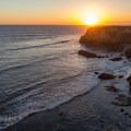 Sunset from the bluffs at Davenport Landing Beach.- Beat the Heat: 20 Summer Escapes Near San Francisco