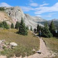 View of Medicine Bow Peak not far from the Lake Marie Trailhead.- Medicine Bow Peak Loop
