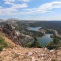Fantastic views on the Medicine Bow Peak Loop ascent traveling clockwise.- Medicine Bow Peak Loop