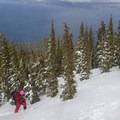 Views above Lake Tahoe are regular sight for Truckee-area skiers.- Best U.S. Desert, Mountain, and Beach Towns