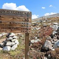 A junction near the summit gives hikers many different options. - Medicine Bow Peak Loop