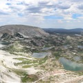 You'll have a fantastic look at many of the surrounding lakes (Libby, Lewis, Klondike, etc.) on this switchback.- Medicine Bow Peak Loop