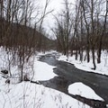 The Lansing Kill River on the Canal Trail.- 10 Beautiful Cross-Country Ski Trails