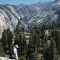Even after descending from Half Dome, you are still treated to more spectacular views to the north toward Cloud Rest.- Half Dome via Mist Trail