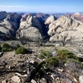 Amazing views to the west of the Right Fork of North Creek and the Great West Canyon.- How to Explore Zion National Park in the Off-Season