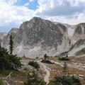 Fantastic views on the Medicine Bow Peak descent traveling clockwise.- Medicine Bow Peak Loop