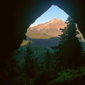 View of Mount Jefferson from inside Boca Cave.- Oregon's 75 Best Day Hikes