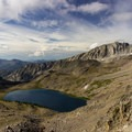 Betty Lake.- Broad Canyon: Betty, Goat + Baptie Lakes and the Surprise Valley Divide