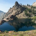 First views of Lake Anna.- Hiking in the Trinity Alps