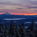 Mount Jefferson as viewed from the Timberline Ski Area.- Mount Hood Wilderness