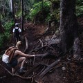 Scrambling along the Eagle Bluffs Trail.- Best Day Hikes near Vancouver, B.C.