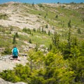 Views from the midpoint of the trail.- Cadillac Mountain South Ridge Trail
