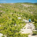 At times, the south ridge trail can seem intimidating as you stare along the length of the ridge.- Cadillac Mountain South Ridge Trail