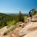 Hiking up and away from the Featherbed.- 3-Day Itinerary in Acadia National Park