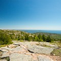 Views from the summit.- Cadillac Mountain South Ridge Trail
