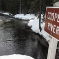 Looking down the river from the bridge.- 22 Must-do Snowshoe Trails in the West