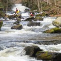 The river steepens considerably below Humble Pie.- Whitewater Paddling The Northeast Classics