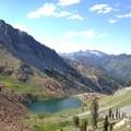 Deer Lake from Deer Creek Pass.- Hiking in the Trinity Alps