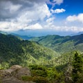 View from Charlie's Bunion.- Guide To Camping In Great Smoky Mountain National Park