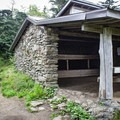 One of the many Appalachian Trail shelters in the Smokies, the Ice Water Spring Shelter is the perfect overnight spot for catching a sunset and sunrise at Charlie's Bunion. You will need a backcountry permit.- Guide To Camping In Great Smoky Mountain National Park