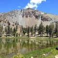 Mount Eddy east of Upper Deadfall Lake.- Hiking in the Trinity Alps