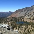 Looking back at the Deadfall Lakes.- Hiking in the Trinity Alps