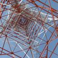 Looking up the radio tower at Keechelus Ridge.- Winter Retreat at Snoqualmie Pass