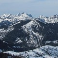 Stuart Range to the northeast from Keechelus Ridge.- 35 Amazing Snowshoe Trails in Washington