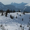 Views north from Keechelus Ridge.- Winter Retreat at Snoqualmie Pass