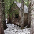 Restored cabin at the upper townsite.- Mountain Loop Highway Itinerary