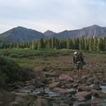 A small stream crossing on the return from Kings Peak.- High Uintas Wilderness