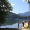 The nearby boat ramp and dock on Lake Easton.- Washington's 50 Best Swimming Holes