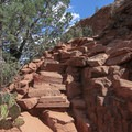 One of the few steep and narrow rock staircases that can be rather intimidating.- Devils Bridge