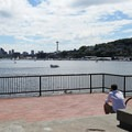 Panoramic view of the Seattle skyline from Gas Works Park.- Best Vistas for Fireworks: Seattle, WA