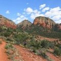 View from the Chuck Wagon Trail.- Devils Bridge