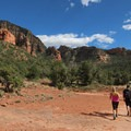 Much exposure and wide open views at the beginning of the Chuck Wagon Trail.- Devils Bridge
