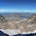 At the Mount St. Helens summit.- Mount St. Helens Hike: Monitor Ridge Route