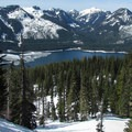 Views down to Keechelus Lake from the Mount Margaret Trail.- 35 Amazing Snowshoe Trails in Washington