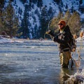 Derek Schroeder fishing on the Crooked River, Oregon.- Getting Started With Fly Fishing