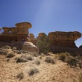 Devils Garden rock formations.- Hole in the Rock Road