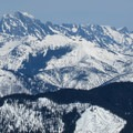 Summit view from Mount Margaret of the Stuart Range to the northeast.- Winter Retreat at Snoqualmie Pass