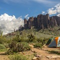 Camping in Arizona's Lost Dutchman State Park.- 5 Warm-Weather Winter Getaways