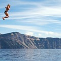 The quickest way to cool off in Crater Lake's pristine waters is to jump!- Backcountry Swimming Holes Worth the Effort