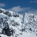 A close-up view of the Shuksan Pyramid (9,131 ft) and Shuksan Arm from Artist Point.- Great Snowshoeing Near Seattle