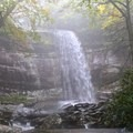 Rainbow Falls on the slopes of Mt. LeConte in Great Smoky Mountains National Park.- 7 Must-See Tennessee Waterfalls