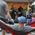 Hammock time presented to you by Trek Light at Outdoor Project's Block Party. - Outdoor Project's Denver Block Party 2018
