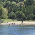 There are plenty of places to lounge at Lake Anza Beach.- 14 Incredible Swimming Holes in Northern California